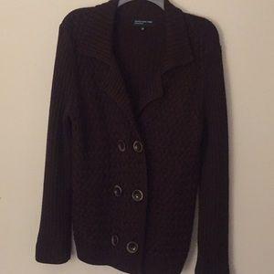 Jones NY Brown Wool Cardigan - Size Large